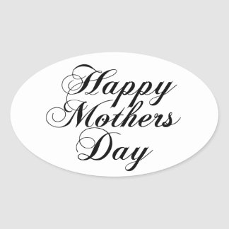 Happy Mothers Day Oval Sticker