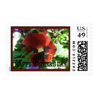 Happy Mother's Day pansy Stamp