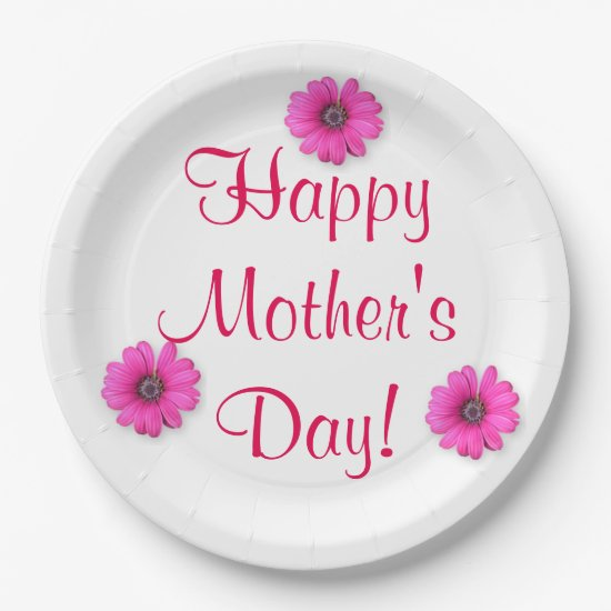 Happy Mother's Day Paper Plates