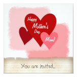 "Happy Mother's Day Party Invitation 5.25"" Square Invitation Card"