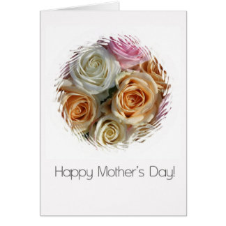 happy mother's day pastel roses greeting card