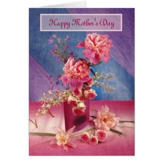 Happy Mother's Day Peonies Card