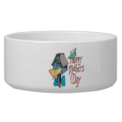 Happy Mothers Day Pet Water Bowls