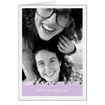 Happy Mothers Day Photo Love Mom Cut Outs Lavender Greeting Card