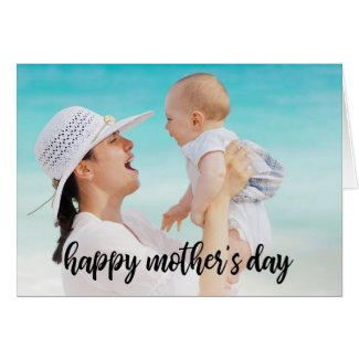 Happy Mother's Day Photo Template Black Script