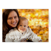 Happy Mother's Day Photo Template White Script
