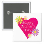 Happy Mothers Day Pinback Button