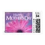 Happy Mother's Day Pink and Purple Floral design Stamps