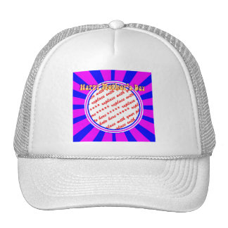 Happy Mother's Day - Pink & Blue Retro Photo Frame Trucker Hat