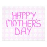 Happy Mothers Day. Pink Flower Pattern. Custom Custom Flyer