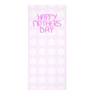 Happy Mothers Day. Pink Flower Pattern. Custom Rack Card