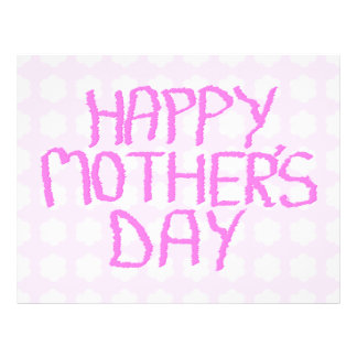 Happy Mothers Day. Pink Flower Pattern Flyer