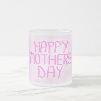 Happy Mothers Day. Pink Flower Pattern Mug
