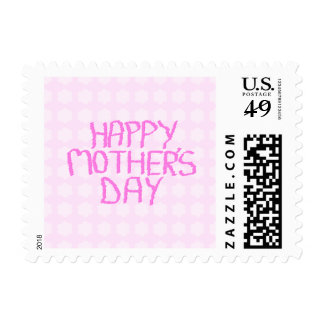 Happy Mothers Day. Pink Flower Pattern Stamps