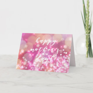Happy Mother's Day | Pink Glitter Card