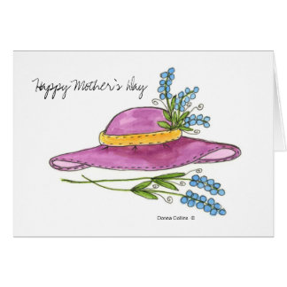 Happy Mother's Day Pink Hat greeting card