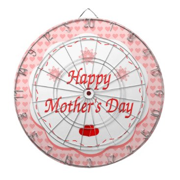 """Valentines Themed """"HAPPY MOTHER'S DAY """" PINK HEARTS DARTBOARD WITH DARTS"""