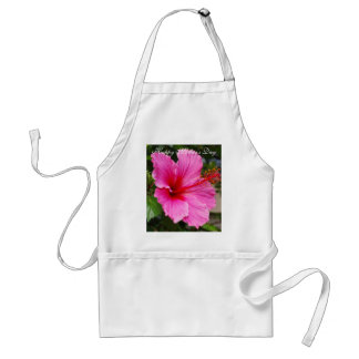 Happy Mother's Day Pink Hibiscus Apron