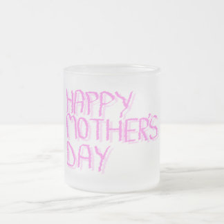Happy Mothers Day.  Pink Letters. Mug