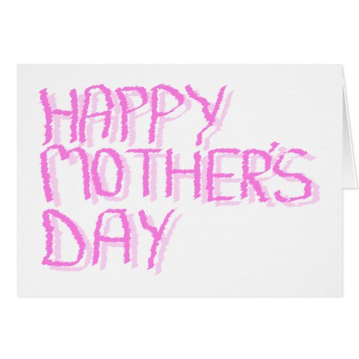 Happy Mothers Day.  Pink Letters. Stationery Note Card