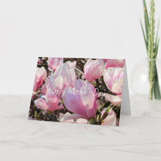Happy Mother's Day Pink Magnolia Card