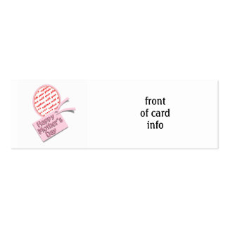 Happy Mother's Day Pink Oval Photo Frame Business Cards