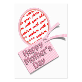 Happy Mother's Day Pink Oval Photo Frame Business Card