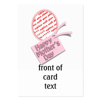 Happy Mother's Day Pink Oval Photo Frame Business Card Template