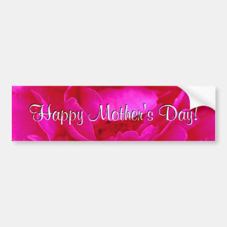 Happy Mother's Day Pink Rose Bumper Sticker
