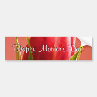 Happy Mother's Day Pink Rose I Car Bumper Sticker