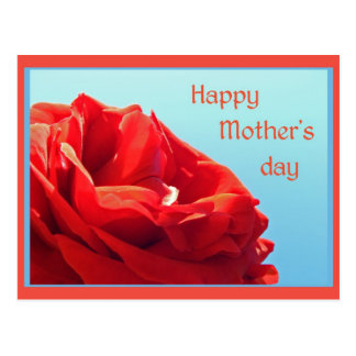 Happy Mother's day - pink rose Postcard
