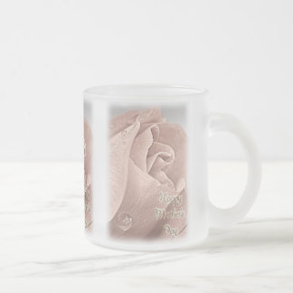 Happy Mother's Day - Pink Rose & Raindrops Mug