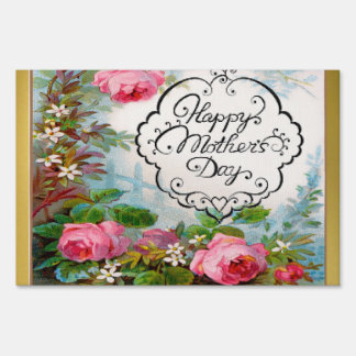 Happy Mother's Day Pink Roses Sign