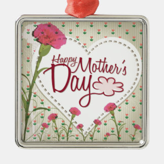 Happy Mother's Day - Pink Vintage Metal Ornament