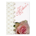 "Happy Mother's Day & Pink with Poem - 1 5"" X 7"" Invitation Card"