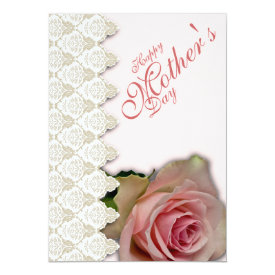 "Happy Mother's Day & Pink with Poem - 1 5"" X 7"" Invitation Card at Zazzle"