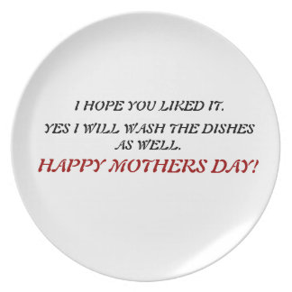 HAPPY MOTHERS DAY PLATE. PLATE