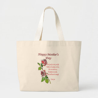 Happy Mother's Day Poem Large Tote Bag