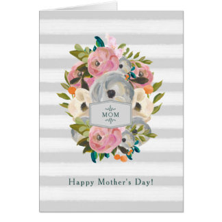 Happy Mothers Day | Pretty Watercolor Flowers Card