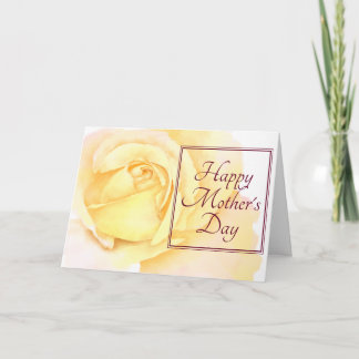 Happy Mother's Day Pretty Yellow Rose Card