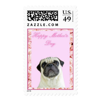 Happy Mother's Day pug Postage