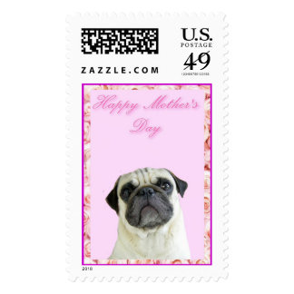 Happy Mother's Day pug Stamp