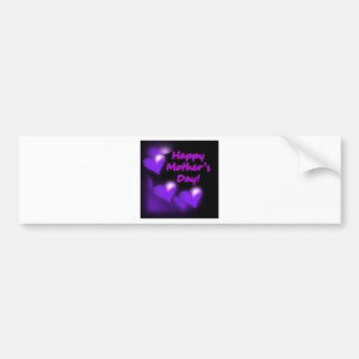 Happy Mother's Day Purpl Hearts Bumper Stickers