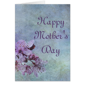 Happy Mother's Day Purple Floral Card