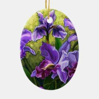 Happy Mother's Day purple flowers Ceramic Ornament