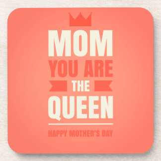 Happy Mother's Day Queen Style Beverage Coasters