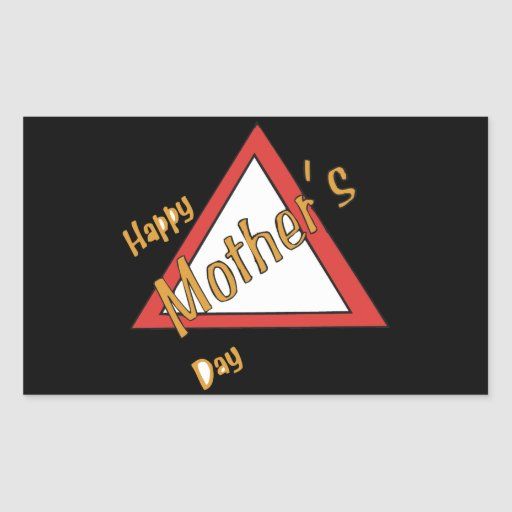 Happy Mothers Day Rectangular Sticker