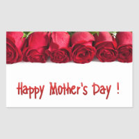 Happy Mother's Day Rectangular Sticker