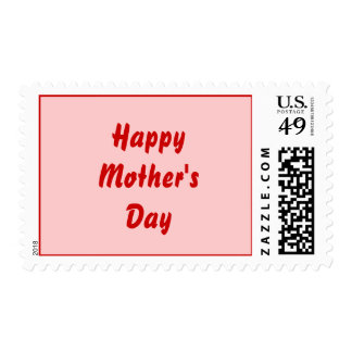 Happy Mothers Day. Red and Pink. Custom Stamps