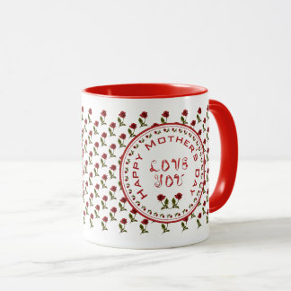 Happy Mother's Day -  Red Rose Floral Photography Mug